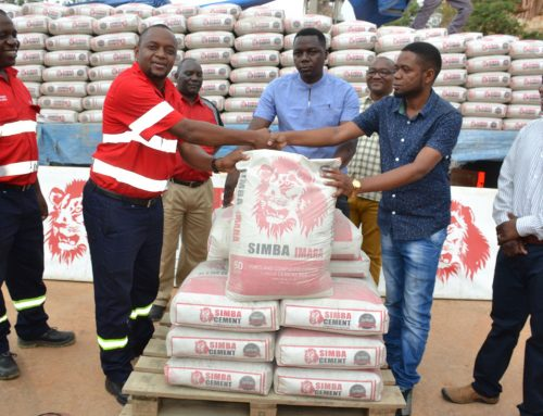 Tanga Cement PLC hand over 300 bags of Simba Cement to Holili ward
