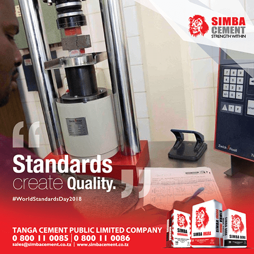 Home - Welcome to Tanga Cement PLC | Simba Cement